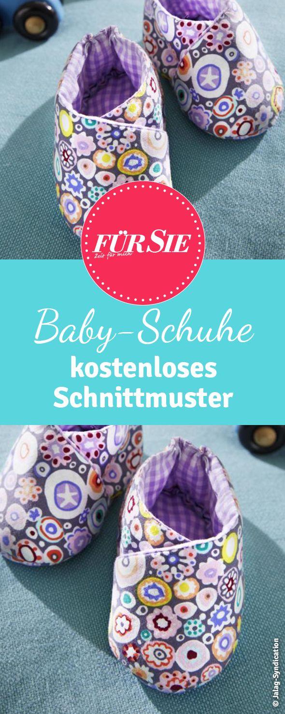 Hier findest du unser kostenloses Schnittmuster für Baby Schuhe