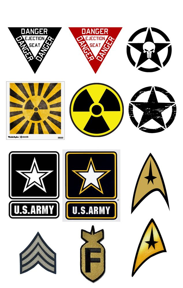Alternative military style Symbol ideas for the Sony PlayStation Controller…