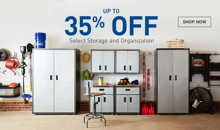 Up to 35% off Select Storage and Organization plus lowes coupons 20%