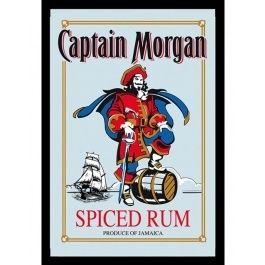 Innrammet+Speil+med+Motiv+-+Captain+Morgan+-+22+x+32+cm
