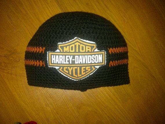 Harley Davidson Hat Crocheted in Sizes Newborn To by juliannealm, $35.00