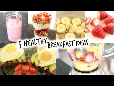 5 Healthy Breakfast Ideas for School! (Quick and Easy) - YouTube