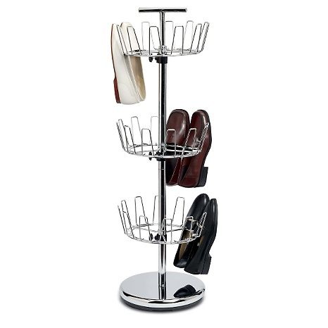 Household Essentials 3-Tier Revolving Shoe Tree