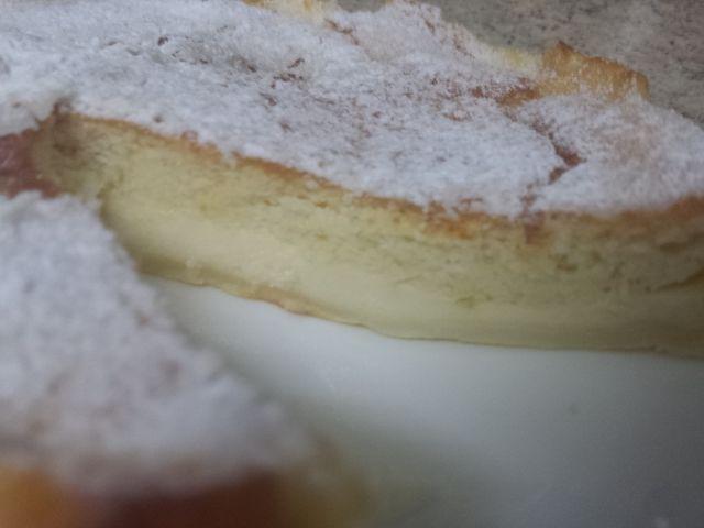 Bizcocho inteligente (al Hornear se combierte en bizcocho arriba y crema pastelera abajo )
