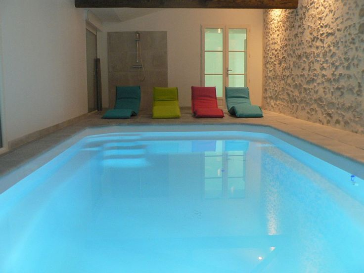 86 best Piscine interieure images on Pinterest Indoor pools - prix veranda piscine couverte