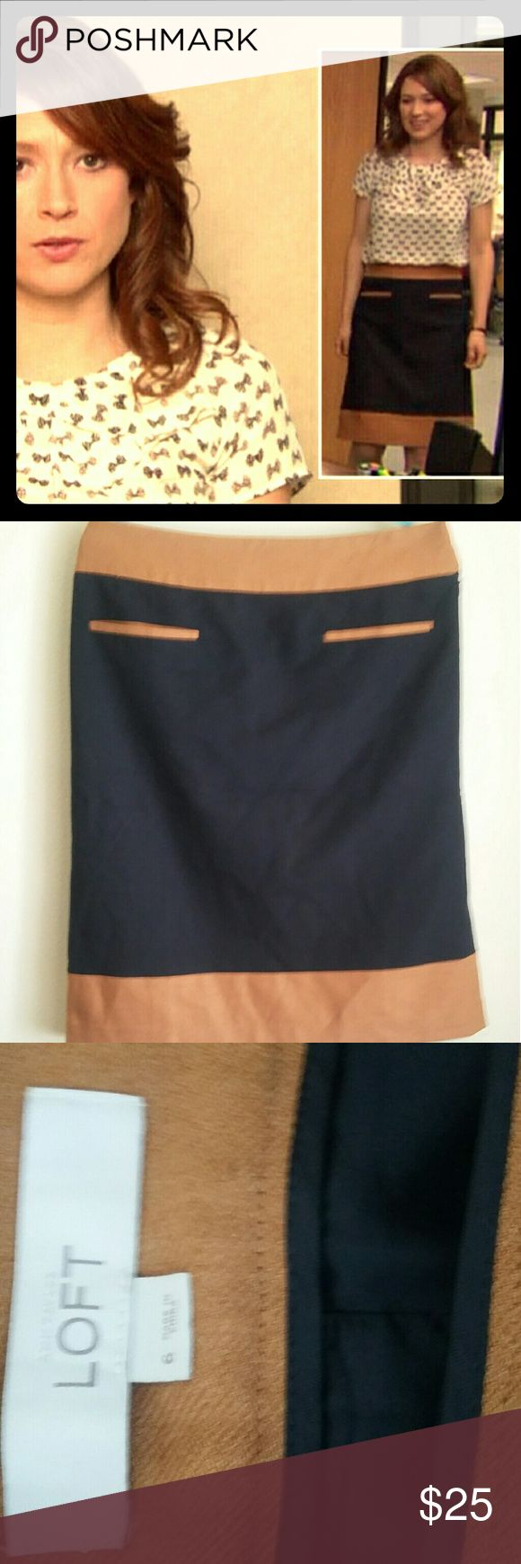 Get Erin's Skirt! We all know Erin had the cutest outfits during her time on The Office and now you can own a bit of that cuteness yourself, No receptionist job title required. This skirt is in perfect condition and waiting for a good home! Ann Taylor Skirts Midi #interviewoutfits