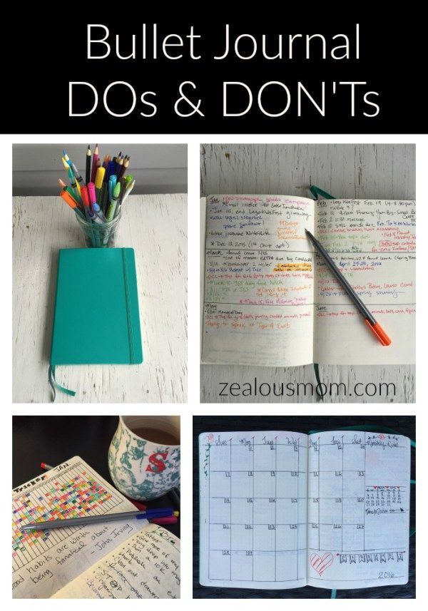 bullet journal do's and don'ts
