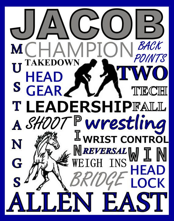 Wrestling Print wrestling team gift by PinksPerfections on Etsy Only $5