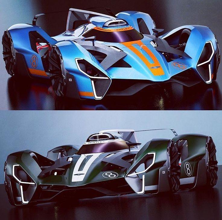 concept car design rendering race car porsche