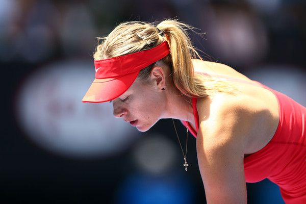 Maria Sharapova Photos - Maria Sharapova of Russia looks on in her semifinal match against Ekaterina Makarova of Russia during day 11 of the 2015 Australian Open at Melbourne Park on January 29, 2015 in Melbourne, Australia. - Australian Open: Day 11