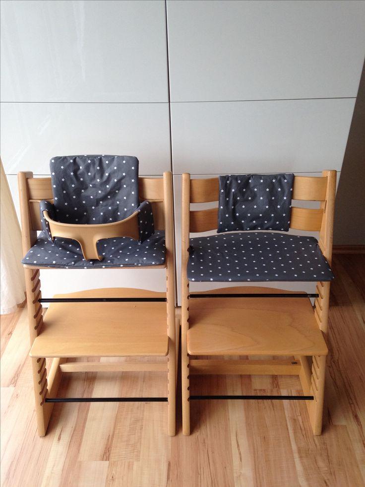 selbst gen ht sitzbezug tripp trapp hochstuhl grau sterne selbst gen ht homemade sewing. Black Bedroom Furniture Sets. Home Design Ideas
