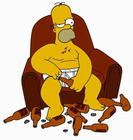 Beer and Homer Simpson