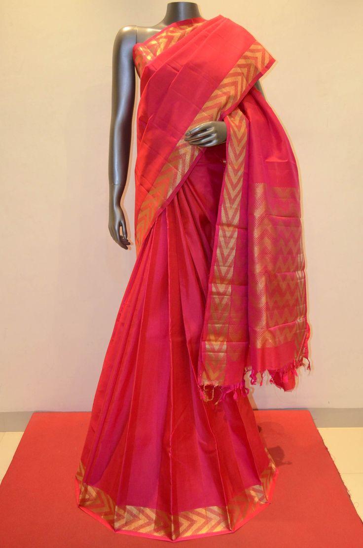 Red Pure Kanjeevaram Silk Saree Product Code: AA214305 Online Shopping; http://www.janardhanasilk.com/Red-Pure-Kanjeevaram-Silk-Saree?search=AA214305&description=true