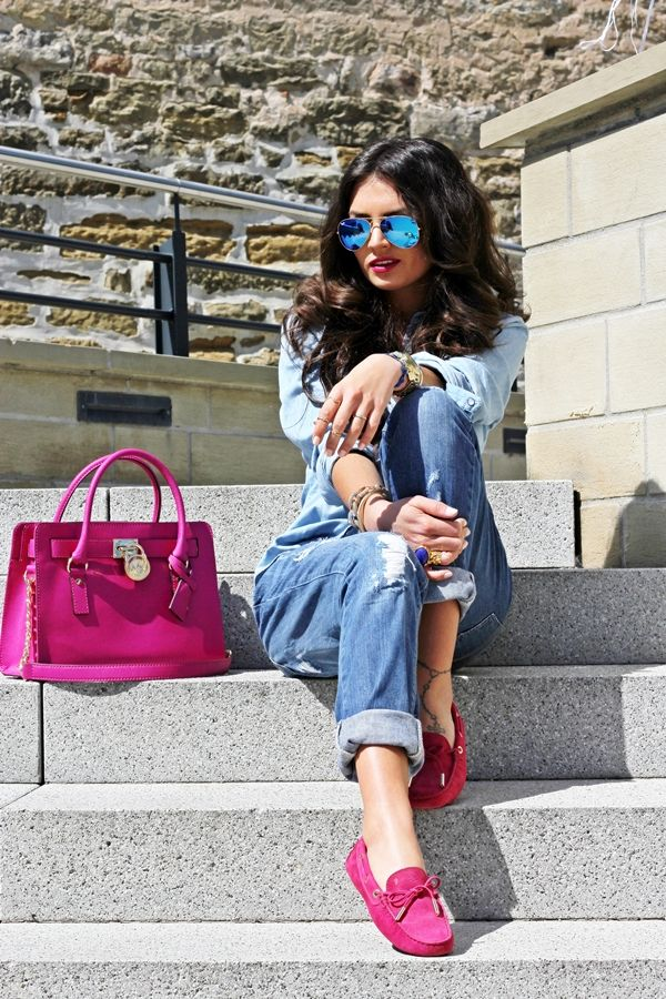 Outfit: Denim on denim and my TOD's Gommino loafer