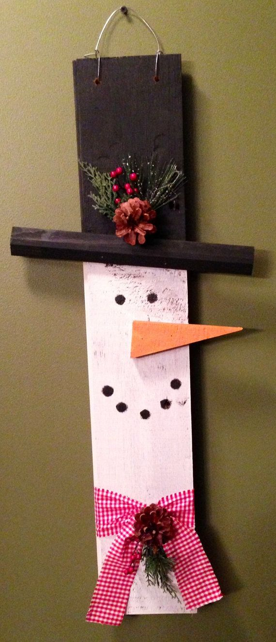 909 best wooden snowmen crafts images on pinterest for Wood crafts for kids