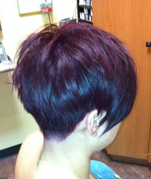 Layered Pixie Hair Cuts Back