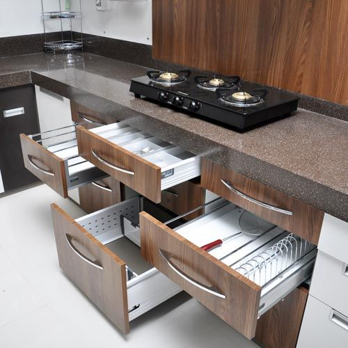 15 best images about pondicherry modular kitchen on for Modular kitchen cupboard