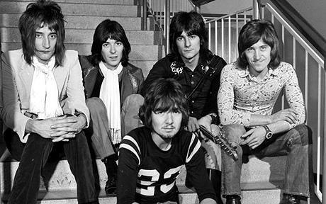 The original Faces: Rod Stewart, Ian Mclagan, Ron Wood, Kenney Jones and Ronnie Lane