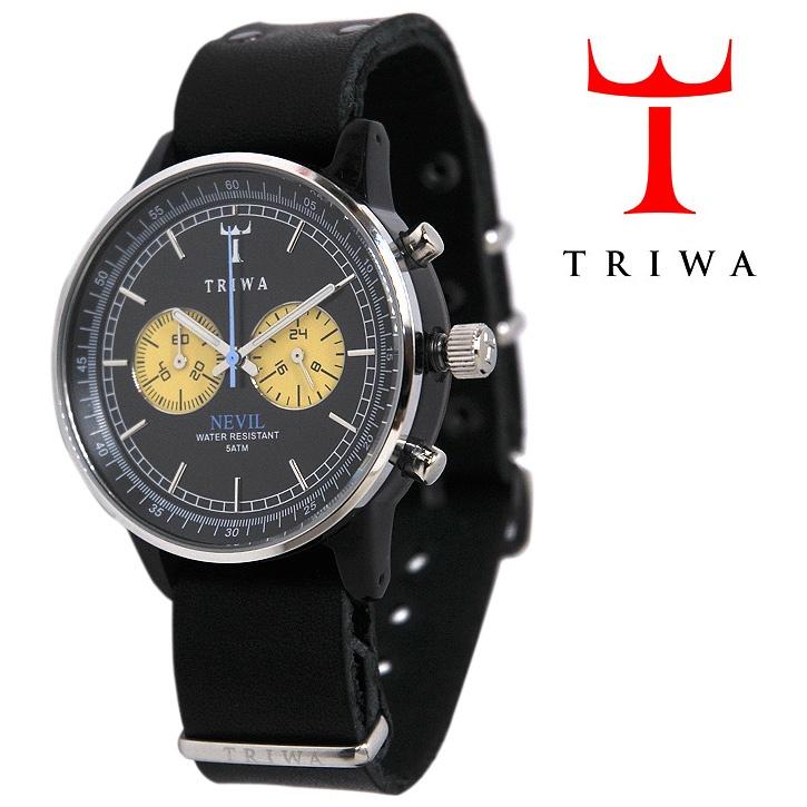 TRIWA(トリワ)  リストウォッチ 腕時計 Nevil Raven Black ブラック×シルバー【送料無料】 wc-triwa-039