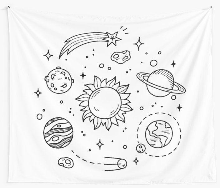 Tela Decorativa Dibujo De Tumblr En El Espacio De Glennstevens En 2021 Dibujos Tumblr Dibujos Del Espacio Tumblr