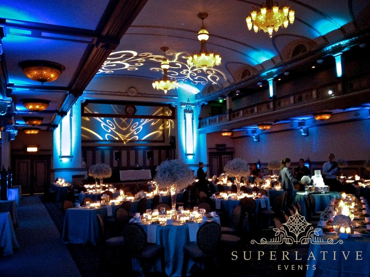 john marshall ballroom virginia ballroom in richmond va uplighting with scroll pattern texture lighting beautiful wedding venuesrichmond
