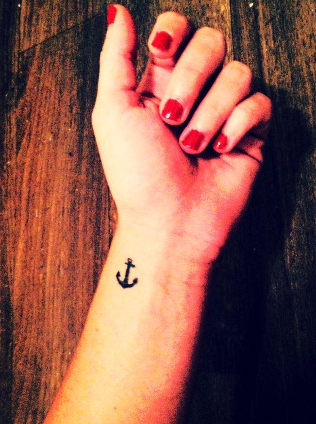 1a170a3b5 Anchor Tattoo on wrist | stability, strength, courage | Fashion ...