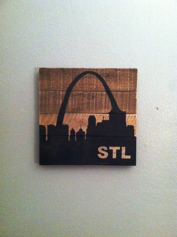 Salvaged Wood St. Louis Skyline by RiverCitySalvage on Etsy
