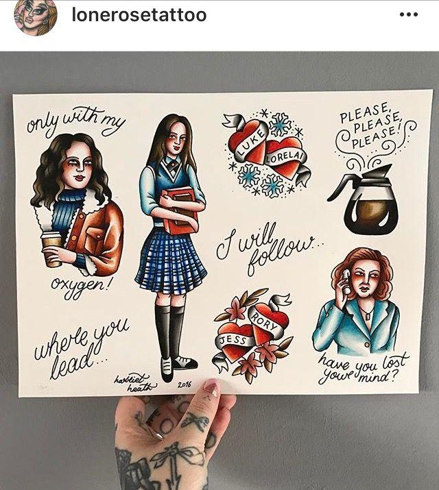 Gilmore Girls tattoo flash