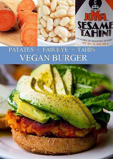 Patates, Fasulye, Tahin = Vegan Burger