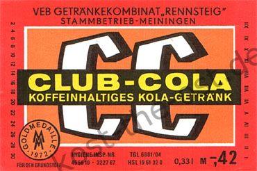 Club-Cola, VEB Getränkekombinat »Rennsteig« Stammbetrieb Meiningen
