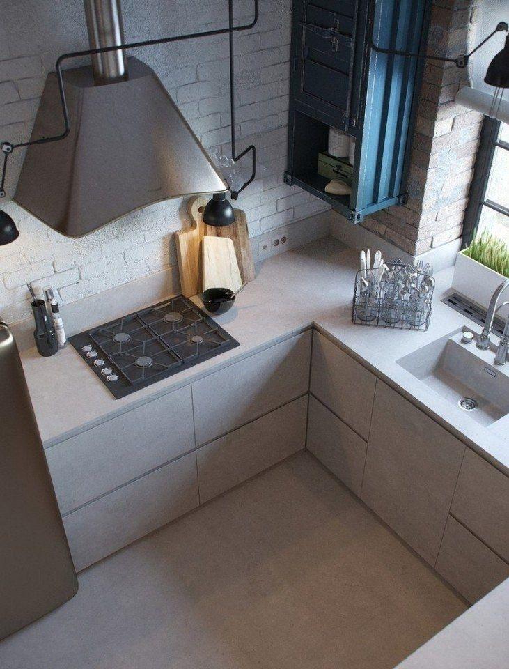 Небольшая кухня в стиле лофт - Дизайн интерьеров | Идеи вашего дома | Lodgers