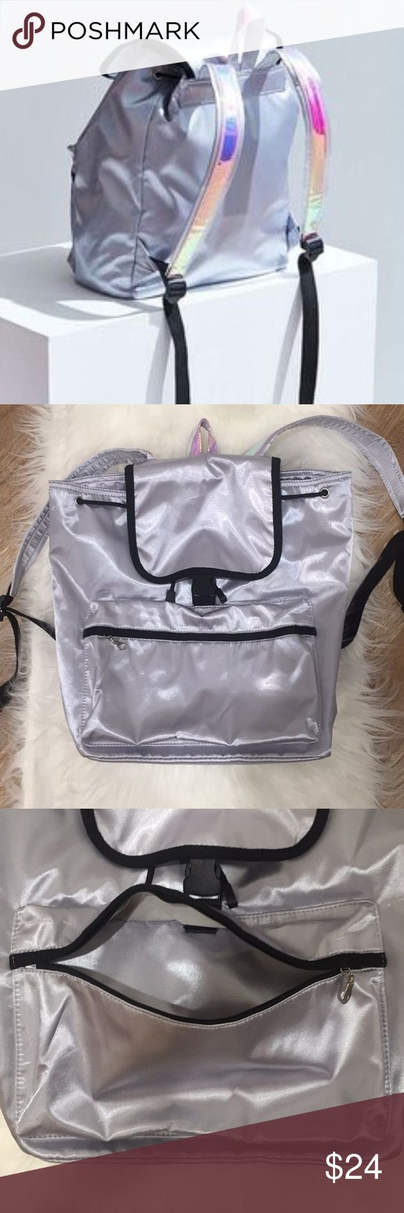 NWT Urban Outfitters Silver Metallic Backpack 80's throwback! Go back to school with this super unique and trendy silver UO metallic backpack. Urban Outfitters Bags Backpacks