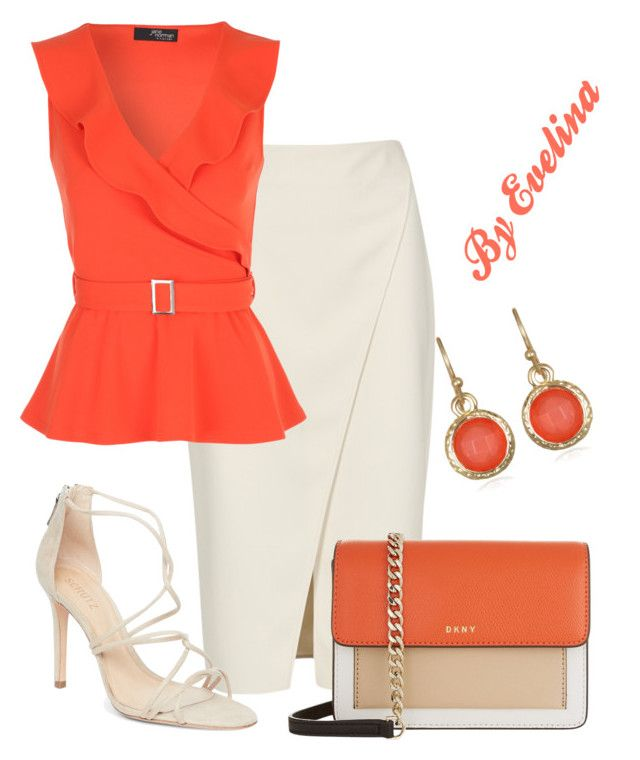 """""""EVE"""" by evelina-er ❤ liked on Polyvore featuring Acne Studios, Schutz, DKNY and Mixit"""