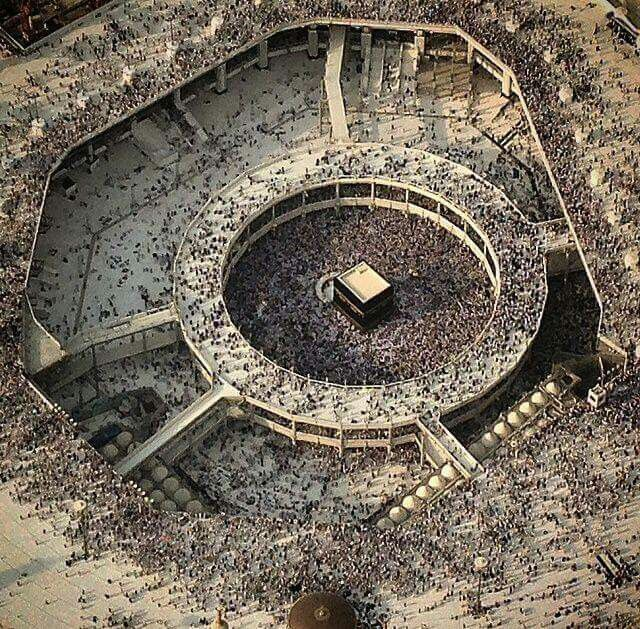 A breathtaking areal view  of  # Mecca