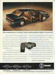 Saab 9000 CDE Print Advertisement