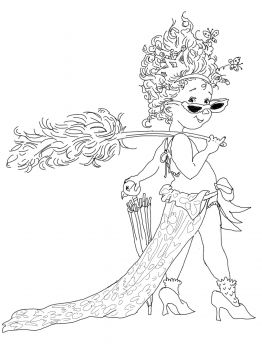 Fancy Nancy Coloring Pages | Fancy Nancy with Umbrella coloring page | Super Coloring