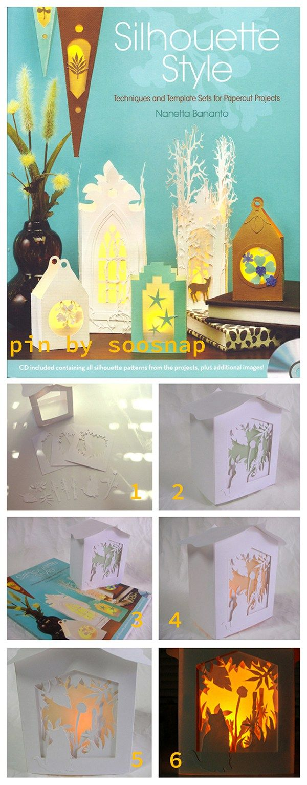 Bamboo Kitty Cottage Lantern,which come form  Tonia came across a fabulous book-Silhouette Style by Nanetta Bananto,give your craft knife and cutting mat a new sense of accomplishment!