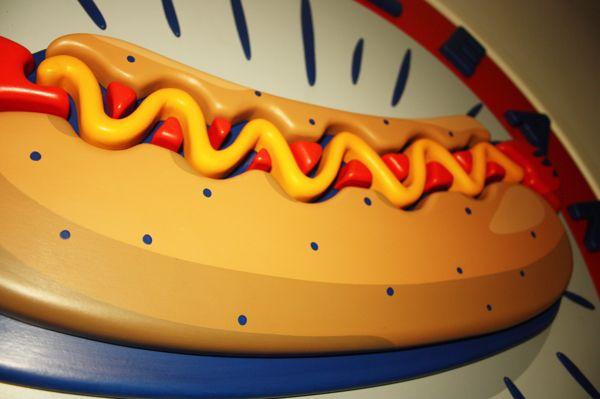 Luscious SculptCraft.  Hot Dog paradise sign by Jimmy Petitet, via Behance