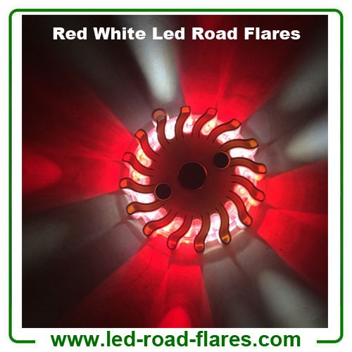 China Duo Colours Red White Led Road Flares Rechargeable Manufacturer Supplier Factory 1.Red White Led Road Flares, Red Blue Led Road Flares, Red Yellow Led Road Flares, Amber White Led Road Flares, Red Green Led Road Flares