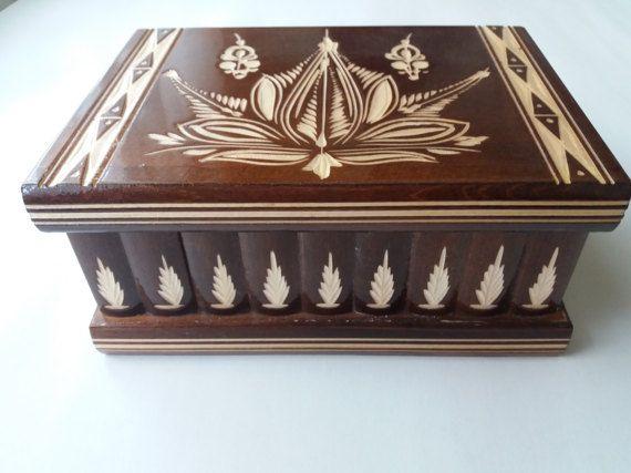 New big huge brown wooden puzzle box secret treasure adventure mystery magic box jewelry storage wooden case hidden chest drawer box gift