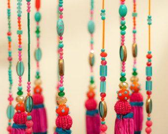 Turquesa hogar decoración móvil techo campanas campana de viento de la decoración decoración-abalorios colgantes móvil azul turquesa único windchime carillones de viento