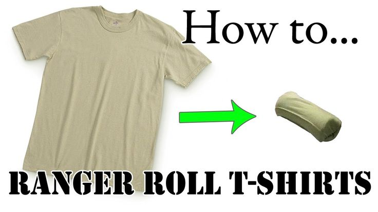 Travel Tips: How to Ranger Roll Army Tan T-Shirt, Basic Training Style - The Best Tutorial