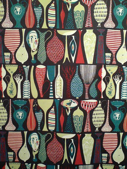 Fabric pattern by Swedish designer Stig Lindberg (1916-1982). via P-E Fronning on Flickr