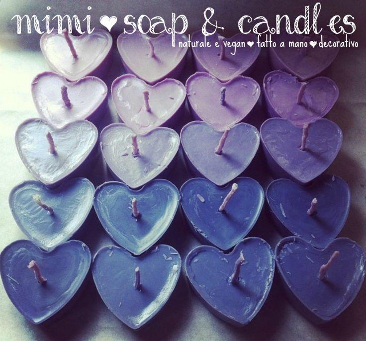 *PROMO* Set da 6 pezzi candele in cera di soia : Lampade di mimi-soapcandles