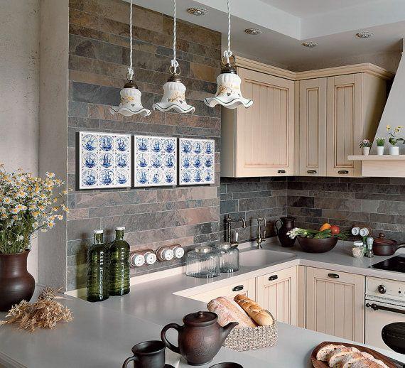 Set van 3 prenten Nederlandse keuken decor door RivuletPhotography
