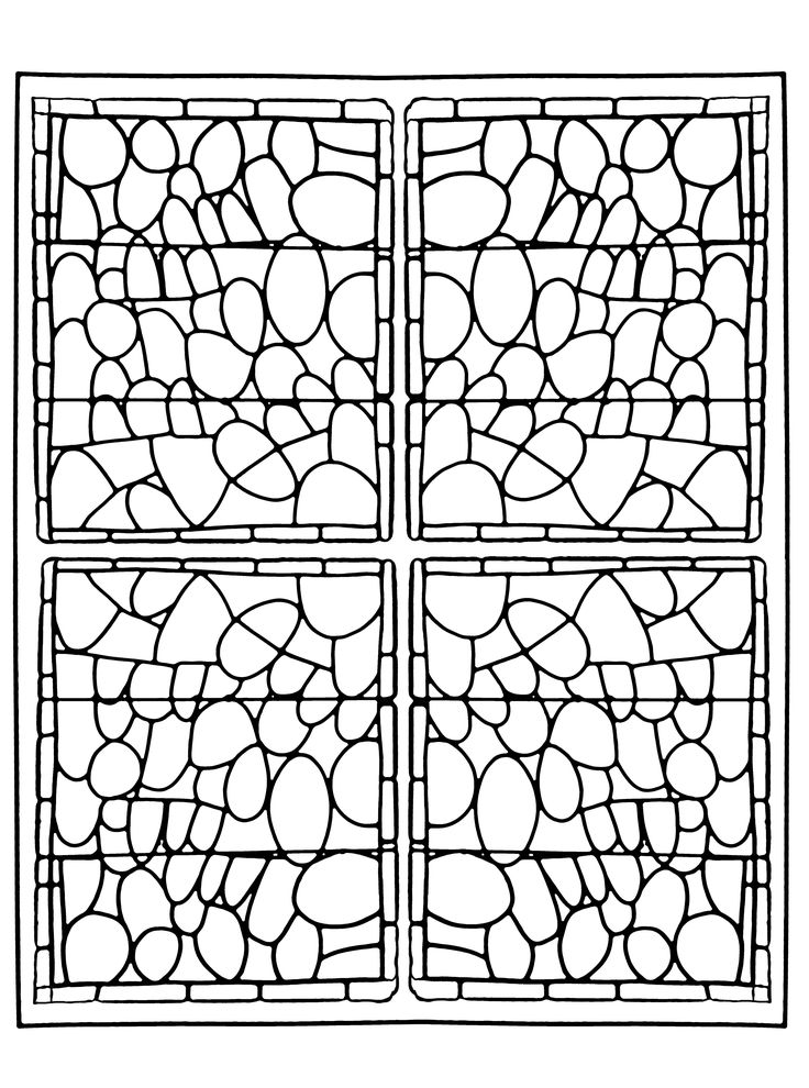 free coloring page coloring adult stained glass chapelle prieure de