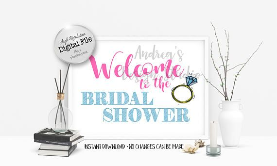Welcome To The Bridal Shower Sign Bridal Shower Décor Bridal