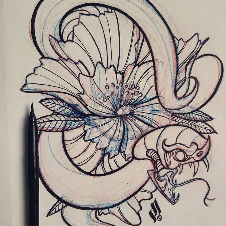 Saturday and everything's just fine! #sketch #neotrad #tattoo #snake #viper #mrturn
