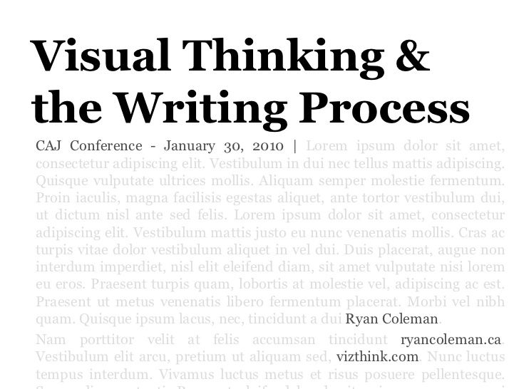 Pay for writing visual thinkers pdf