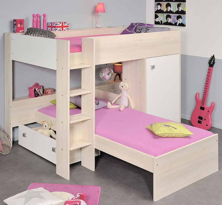 Low Bunk Bed With 1 Drawer Cabinet Overall 598 H X